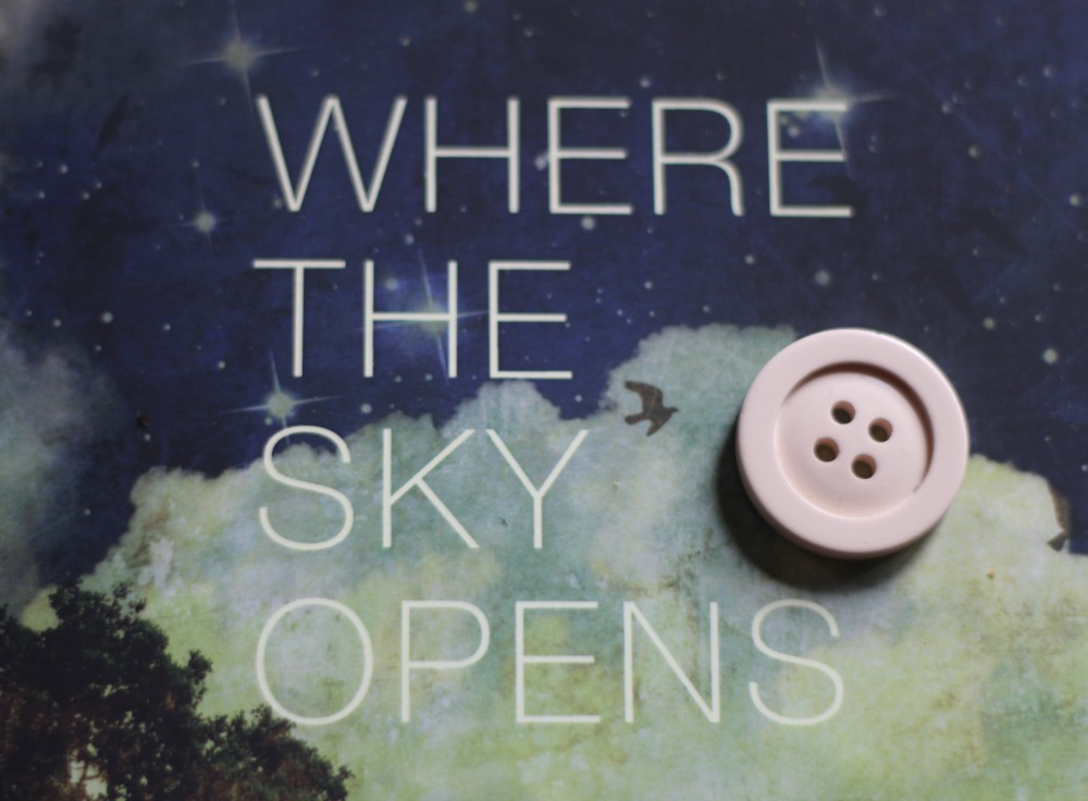 Where the Sky Opens book cover with button