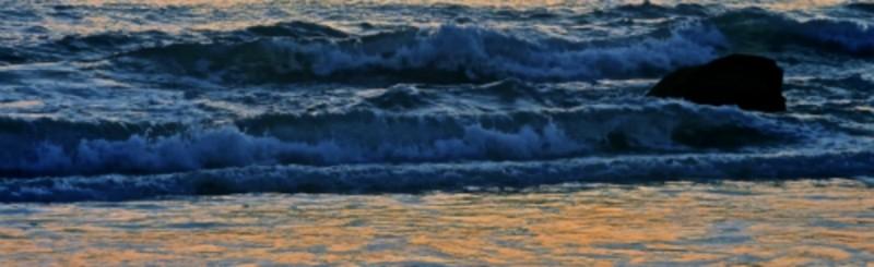 Evening Blues on the Beach