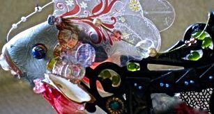 """""""Dream Fish,"""" Detail, bricolage, L. Klein"""
